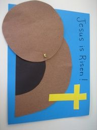 Empty Tomb Easter Sunday Craft  like the idea of attaching with brad...think I would put it on side though so you could roll it farther away to uncover tomb