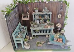 miniature room in 1:12 scale