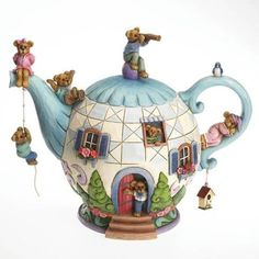 Potsley Family Teapot Figurine by Jim Shore