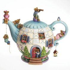 Potsley Family Teapot Figurine by Jim Shore
