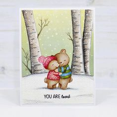 Cas Christmas Cards, Christmas Crafts, Mama Elephant Cards, Fun Cards, Winter Cards, Prismacolor, Homemade Cards, Cardmaking, Stamping