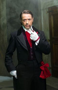 "Robert Downey Jr. as Sherlock Holmes in in his formal attire for the Reichenbach ball. ""Sherlock Holmes: A Game of Shadows"""