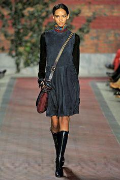 Fall 2012 RTW, Designer: Tommy Hilfiger, Model: Cora Emmanuel http://blackwomeninboots.blogspot.com