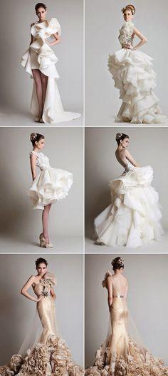 30 Seriously Stunning Wedding Gowns dreeeeamy ruffles