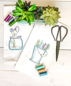 Look at this Herbs & Blooms Tea Towel Embroidery Kit Hand Embroidery Patterns Free, Towel Embroidery, Embroidery Kits, Sewing Patterns Free, Free Sewing, Embroidery Stitches, Tea Towels, Herbs, Fingers