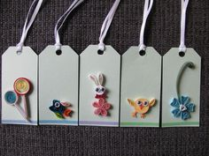 paper quilling gift tag