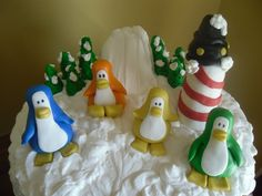different color penguins