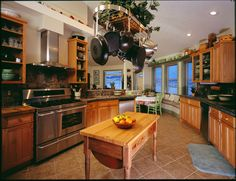 Kitchen of an eco Deltec home. Love this kitchen.
