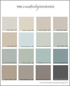 The Most Popular/Pinned Paint Colors on Pinterest {Paint It Monday}… color scheme