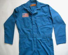 Vintage Blue Space Camp USA Jumpsuit by Baxtervintage on Etsy, $55.00