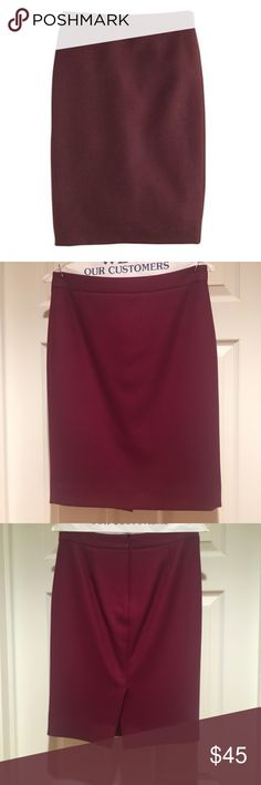 J.Crew Wool Skirt Just dry cleaned. Only worn once. J crew No. 2 wool pencil skirt - size 2 J. Crew Skirts Pencil