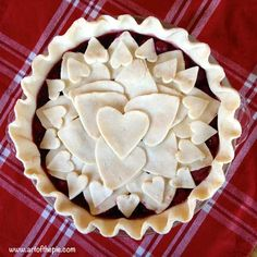 This cherry pie has a lot of heart. artofthepie.com
