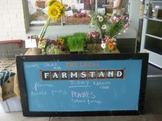 Cute farm stand sign.