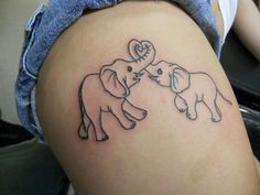 love this idea for when I have my first child just make the elephants a little different in size