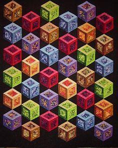 quilt block patterns | ... leaves quilt block pattern yatsu rai 8 thread kumihimo pattern