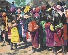 African women by Jacques Majorelle (1886-1962)