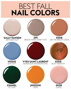 Nail color trends for Fall! Nail color trends for Fall! Fall Nail Polish, Fall Manicure, Best Nail Polish, Nail Polish Colors, Manicure Ideas, Nail Ideas, Nail Color Trends, Fall Nail Colors, Popular Nail Colors