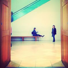 Feet up at the National Portrait Gallery