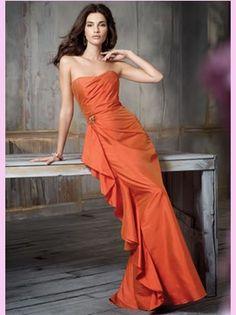 9275ef3c4dd9c A-Line Strapless Floor Length Silky Taffeta Bridemaid Dress Style 5123