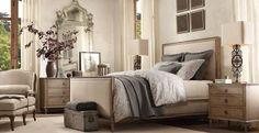 Bedroom Set Furnitures of Restoration Hardware for Classic Bedroom Interior Design