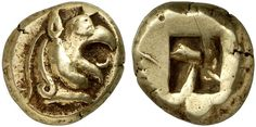 EL Stater. Greek Coin, Ionia, Phocaea. Circa 580 BC. 16,50g. Good VF. Price realized 2011: 70.000 USD.