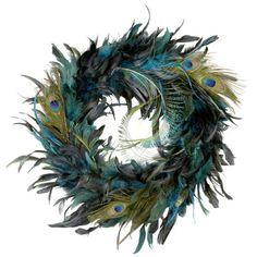 Ashland® Peacock Feather Wreath