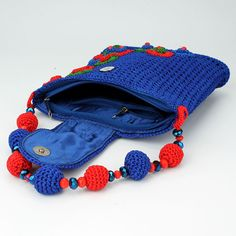 blue bag crochet