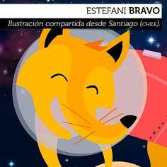 Ilustración. Zorrito Planetario de ESTEFANI BRAVO  Ilustración compartida desde Santiago de Chile.    Leer más: http://www.colectivobicicleta.com/2012/09/ilustracion-de-estefani-bravo.html#ixzz26vkIlDos