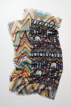 Folk Forms Scarf lovely printed scarves from Anthropologie