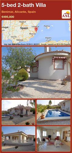 5-bed 2-bath Villa in Benimar, Alicante, Spain ►€495,000 #PropertyForSaleInSpain