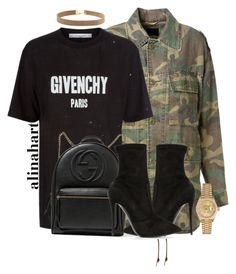 """""""$"""" by alinahartikainen ❤ liked on Polyvore featuring Yves Saint Laurent, Givenchy, Gucci, Giuseppe Zanotti and Rolex"""