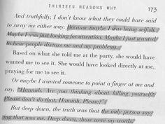 Thirteen Reasons Why. <3
