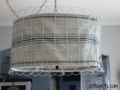 Create a stunning lampshade from Home Depot fencing.