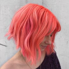 Lava and Candy… is the artist… Pulp Riot is the paint. Lava and Candy… is the artist… Pulp Riot is the paint. Hair Dye Colors, Ombre Hair Color, Vibrant Hair Colors, Colourful Hair, Bright Hair, Colorful, Blond, Cheveux Oranges, Peach Hair