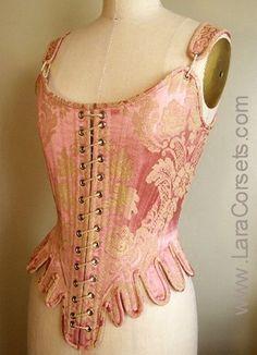 missingsisterstill: 18th Century Corset Pink