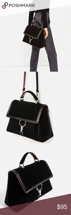 ZARA Suede Bag Never been used!! It's been sitting in my closet for months. In absolute perfect condition! PRICE IS FIRM. No trades. Zara Bags Crossbody Bags