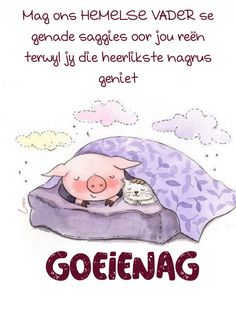 Evening Quotes, Afrikaanse Quotes, Goeie Nag, Good Night Sweet Dreams, Good Morning, Qoutes, Teddy Bear, Animals, Messages
