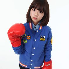 PANCOAT - Scout Cotton Stadium Jacket (Strong Blue)
