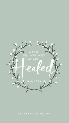 How do you need healing today? Let Jesus' wounds touch your pain and heal your heart http://on.fb.me/1PUvUJD