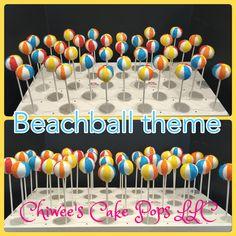 Beachballs cake pops