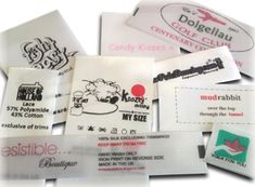 Customised Printed Satin Labels : Woven Labels Direct!