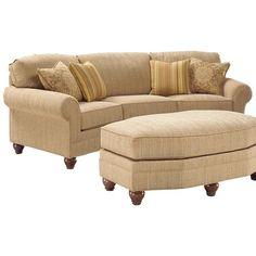 Fairfield 3768 Curved Arch Sofa - Belfort Furniture - Conversation Sofa Washington DC, Northern Virginia, Maryland and Fairfax VA