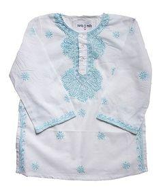 Look at this #zulilyfind! Turquoise Noor Tunic - Toddler & Girls #zulilyfinds