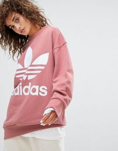 adidas Originals Oversized Sweatshirt In Pink at asos.com   @giftryapp
