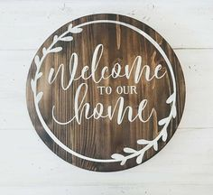 38 Ideas For Diy Wood Projects For Home Wooden Signs Stencils Wood Signs For Home, Diy Wood Signs, Welcome Home Signs, Welcome Wood Sign, Handmade Home Decor, Diy Home Decor, Handmade Signs, Wood Projects, Woodworking Projects