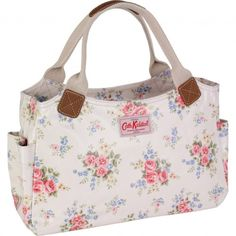 Beautiful White Floral Cath Kidston Handbag. Love this floral print! #Florals #CathKidston
