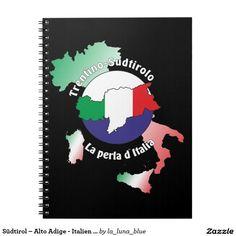 Südtirol – Alto Adige - Italien - Italia Notizheft Spiral Notizbücher