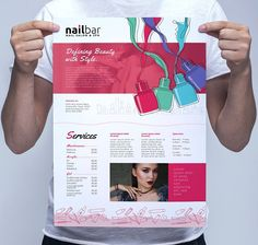 A3 Nail Bar Poster Template by BrandPacks on @Graphicsauthor
