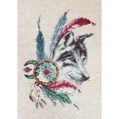 Wolf Cross Stitch kit Cross Stitch Set Embroidery Kit Luca-S DIY