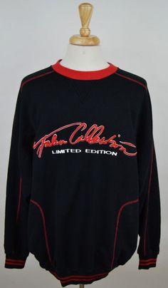 Mens Fubu Collection Limited Edition long sleeve black red XL cotton sweat shirt #FUBU #SweatshirtCrew